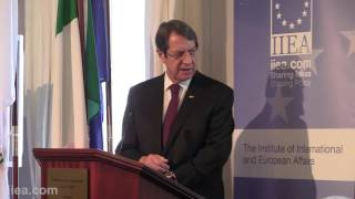 Nicos Anastasiades - My Vision of Cyprus' role in the European Union