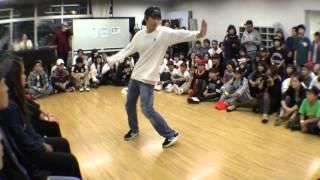 TAKUMI vs KANATA FINAL POP / TEENS DANCE@PIECE 2015 DANCE BATTLE