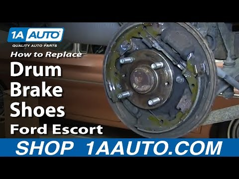 How To Replace Install Rear Drum Brake Shoes 1998-03 Ford Escort and ZX2