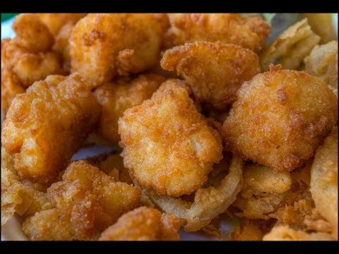 Fried Scallops with a Beer Batter Crust