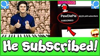 Pianist forces strangers on Omegle to sub to PewDiePie