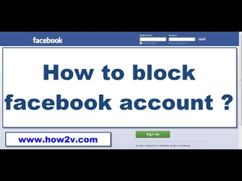 how to block our account in facebook (permanently)