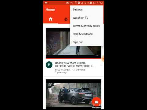 how to clear youtube view history in android phone