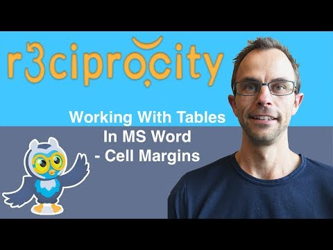 How To Format A Table With Many Columns In Microsoft Word - Change Cell Margins