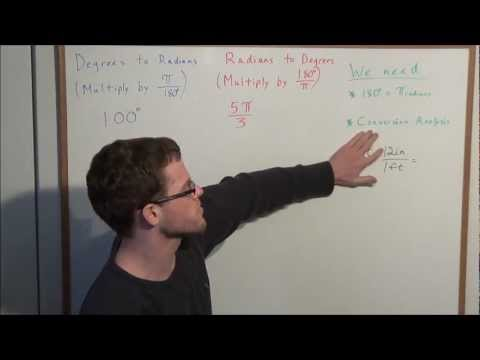 Converting from Radians to Degrees and Degrees to Radians - Algebra 2