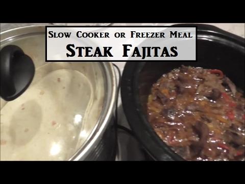 How To Make Crock Pot Steak Fajitas (or a Freezer Meal)