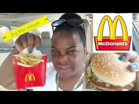 Car Mukbang/McDonalds Big Mac Meal🍟🍔