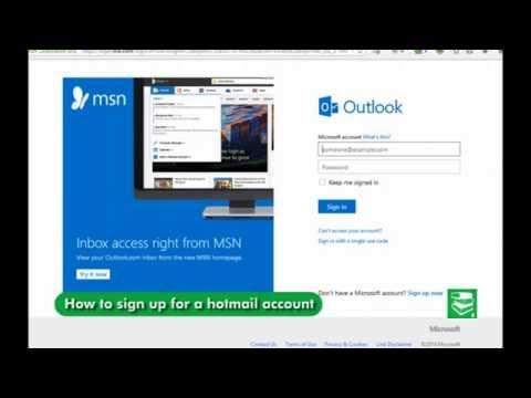 Msn Outlook registration – Hotmail Account Registration