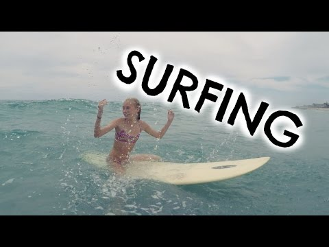 LEARNING HOW TO SURF!! Weekly Vlog #17