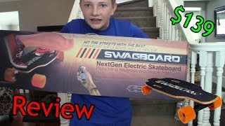 $139 ELECTRIC SKATEBOARD SWAGBOARD NG-1 NEXTGEN  REVIEW!