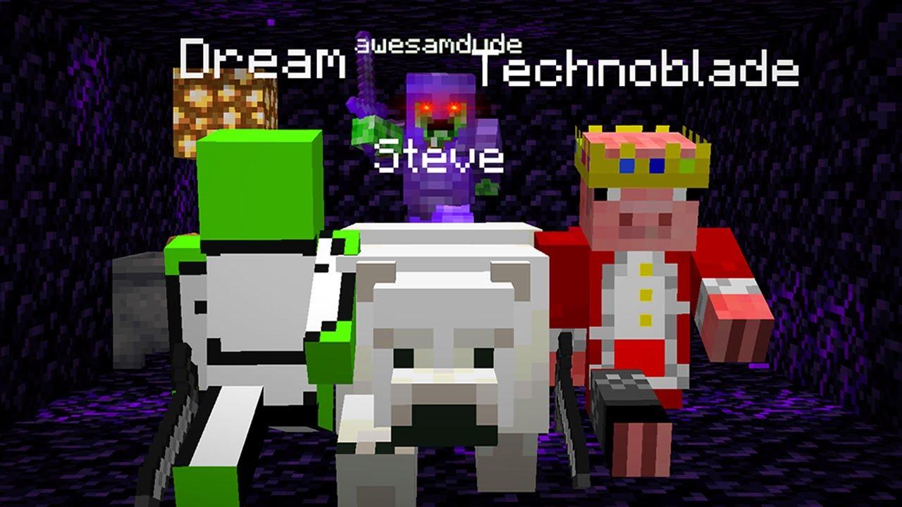 Dream and Technoblade escape the Prison on the Dream SMP