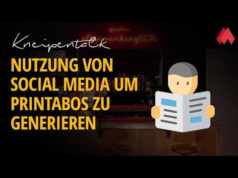 Nutzung von Social Media um Printabos zu generieren | morefire Kneipentalk