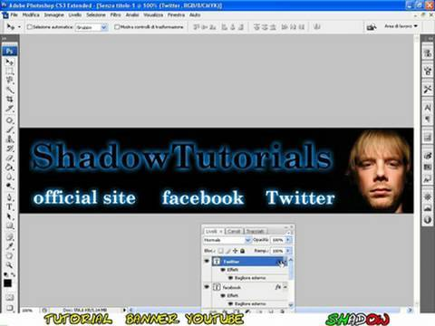 Tutorial Photoshop CS3 - How to create a banner in few minutes