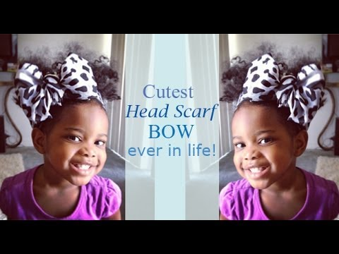How To: Cutest Head Scarf Bow Ever In Life!