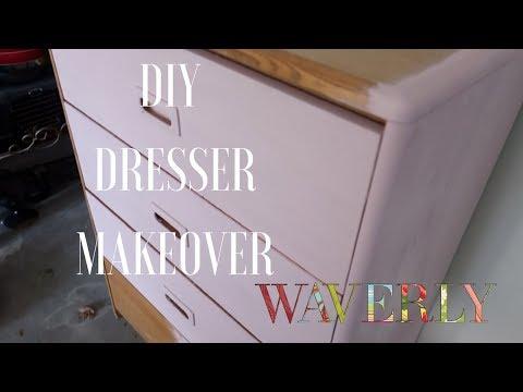 DIY DRESSER MAKEOVER / NO STRIPPING
