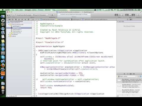How to create view controllers programmatically in iOS