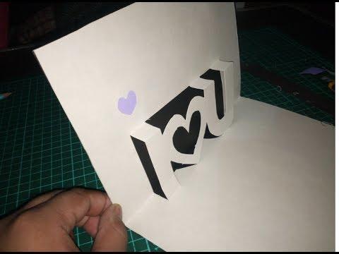 HANDMADE I LOVE YOU POP-UP Card,