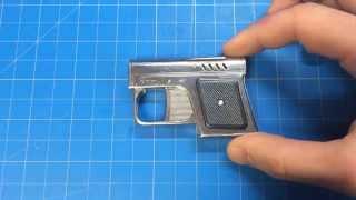 Download RARE! Romanian1960 Econ Fagaras Pistolette Lighter w/ Magazine! Video