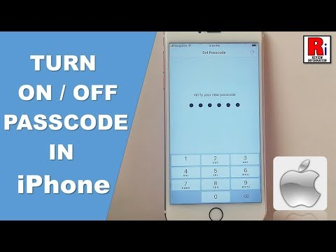HOW TO TURN ON / OFF PASSCODE IN iPhone