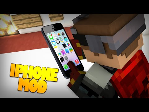 Minecraft Mods | iPhone Mod | iPhone 6S in Minecraft? | Apps in Your iPhone! (Mod Showcase)