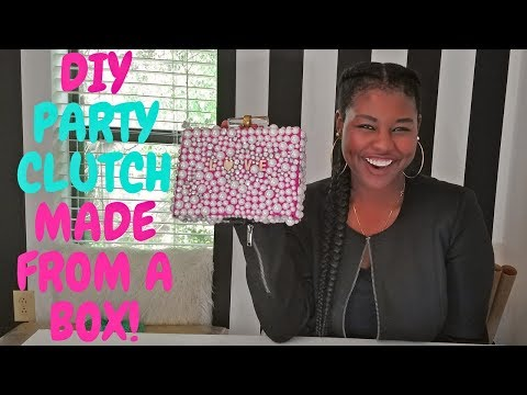 HOW TO MAKE A BEADED CLUTCH FROM A BOX | DIY BOX PURSE