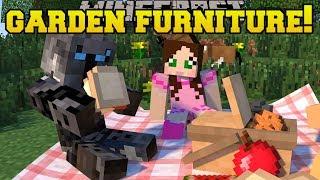 Minecraft: GARDEN FURNITURE!!! (GAZEBO, HAMMOCK, BENCHES & TABLES!) Custom Command