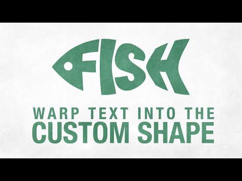 Warp Text Into the Custom Shape in Adobe Illustrator CC