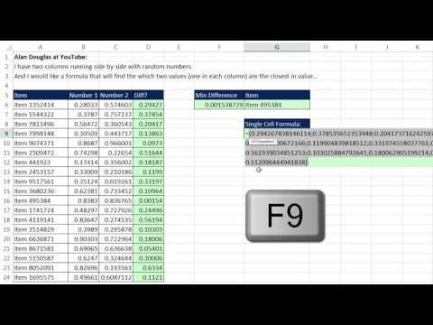 Excel Magic Trick 1254: Lookup Item Where 2 Values Are Closest: Helper Column or Array Formula?