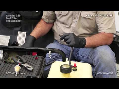 Yamaha Fuel Filter Replacement on Golf Cart | How to Install