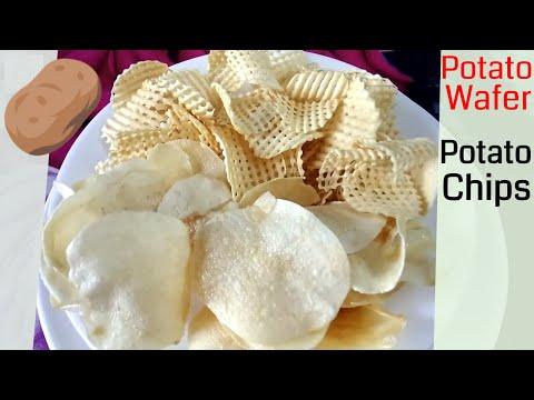 How to make Batata/Potato Wafers | Crispy thin Potato chips recipe | Aloo chips recipe