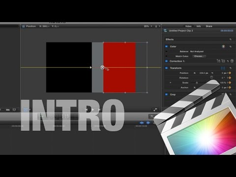 How to make an Intro in Final Cut Pro X