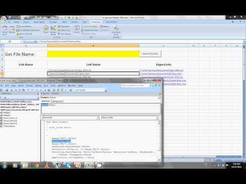 Excel VBA :Get Open File Path To Create a Hyper link Saver