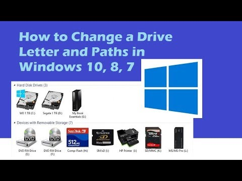 How to Change a Drive Letter and Paths in Windows 10 2017