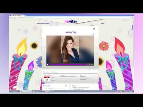 Video Invitations and Video Greetings Made easy www.inviter.com Video Demo