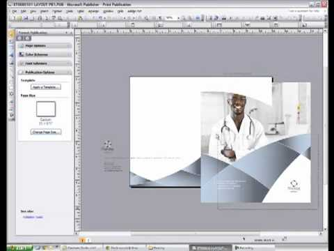 Changing Page Size and Resizing Graphic Elements in Publisher