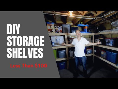 DIY Storage Shelving for less than $100
