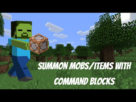 Minecraft 1.11 How To Summon Mobs/Items With Command Blocks