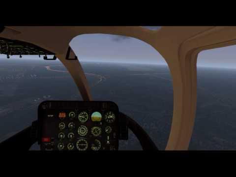 X-Plane 11.02 -- Bell-407 -- Dallas Love Field (KDAL) ➡ Dallas Fort Worth (KDFW)  Sunrise Flight