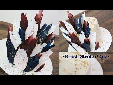 Brush Stroke / Paint Stroke Cake!