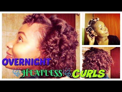OVERNIGHT HEATLESS CURLS on Relaxed Hair!