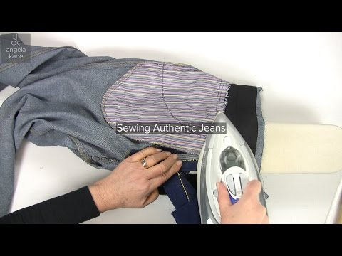 Sewing Jeans Part 12, Sewing Jeans Attaching the Waistband