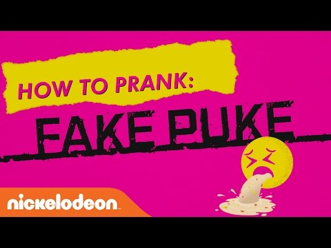 How to Prank w/ the Game Shakers: Fake Puke | Nick