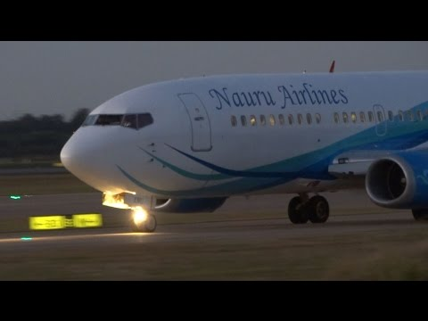 Nauru Airlines Boeing 737-319 [VH-XNU]   Takeoff   Brisbane Airport