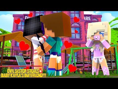Minecraft LITTLE DONNY'S EVIL DAUGHTER STEALS BABY KAYLA'S BOYFRIEND!!!