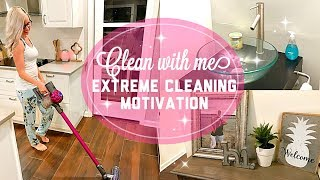 CLEAN WITH ME 2017 // EXTREME CLEANING MOTIVATION // night time cleaning of entire first floor!