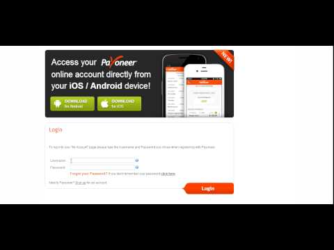 payoneer sign in