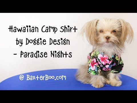 Hawaiian Camp Shirt by Doggie Design - Paradise Nights