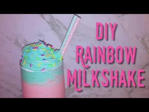 Diy Rainbow Milkshake | Unicorn inspired | + Diy whipped cream