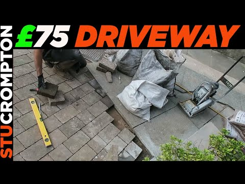 How to Lay Block Paving Driveway for £75 tutorial