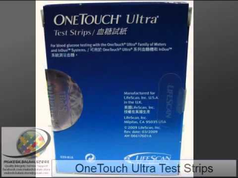 ONETOUCH ULTRA TEST STRIPS lifescan